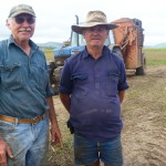 Proserpine cane growers Bill Matthews and Bill Camm