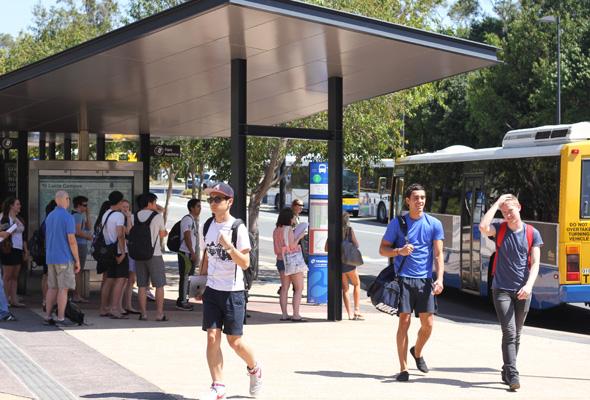 Students break down public transport