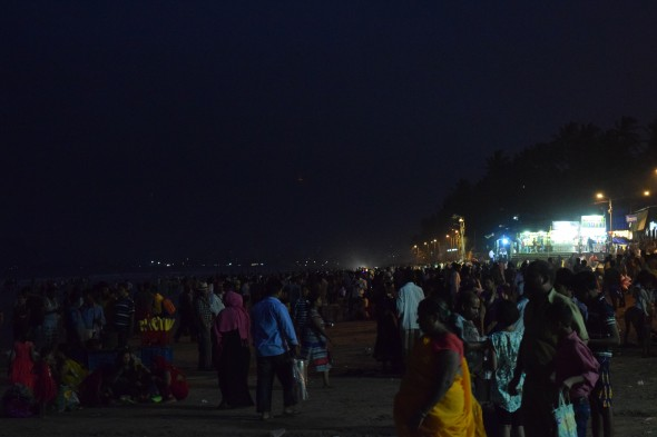 Juhu beach after dusk, Mumbai