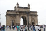The Gateway of India is a popular tourist attraction and gathering point for locals