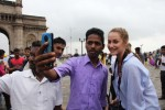 This local was one of many who were eager for a photo with us at the Gateway of India. Source: Claudia Farhart